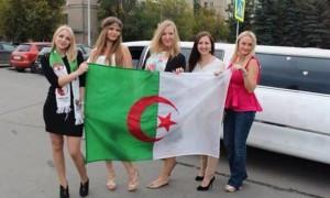supportrices de charme  Algérie  Coupe du Monde 2014